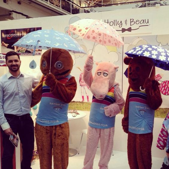 Here's Jack with our friends from the Rainbow Trust Children's charity, at Bubble London in January 14.