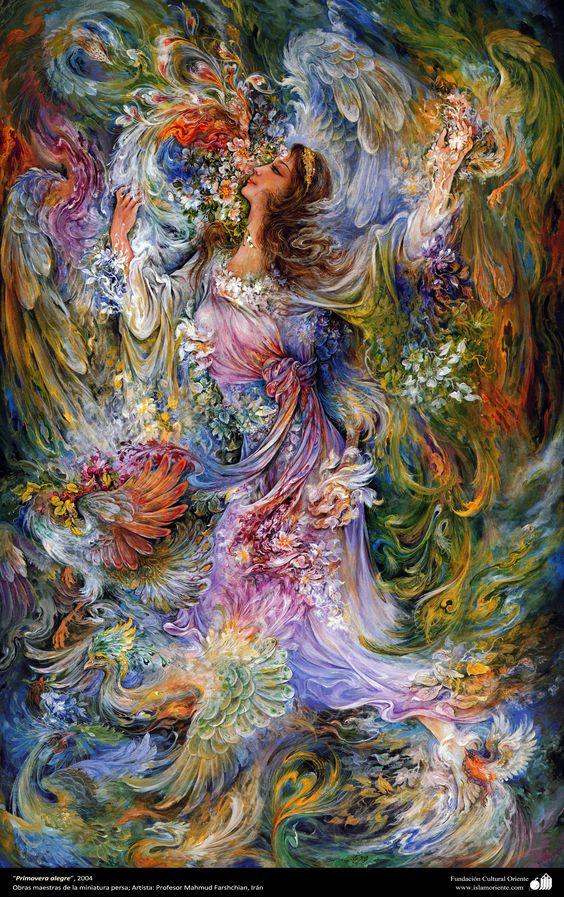 Primavera alegre, 2004, Obras maestras de la miniatura persa; M. Farshchian | Galería de Arte Islámico y Fotografía
