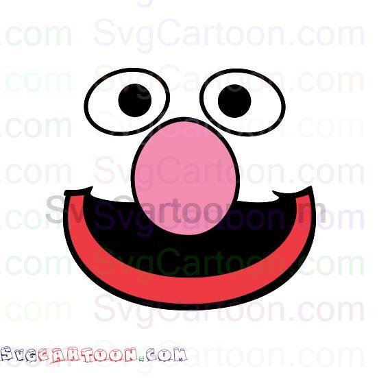 Grover Face Sesame Street Svg Dxf Eps Pdf Png Sesame Street Svg Poster Prints