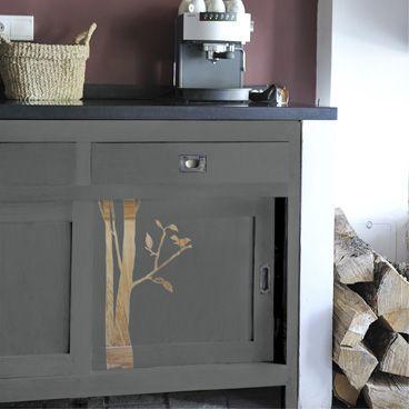 Peinture à effet gris béton custo meubles Pinterest Déco et Ps