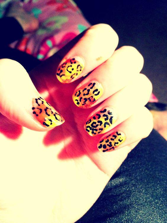 my leopard print nails