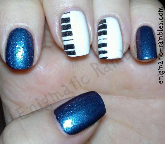 stamped-nails-nail-art-bundle-monster-bm205-205-piano-anglica-twilight-jess-polish-midnight-barry-m-matt-white