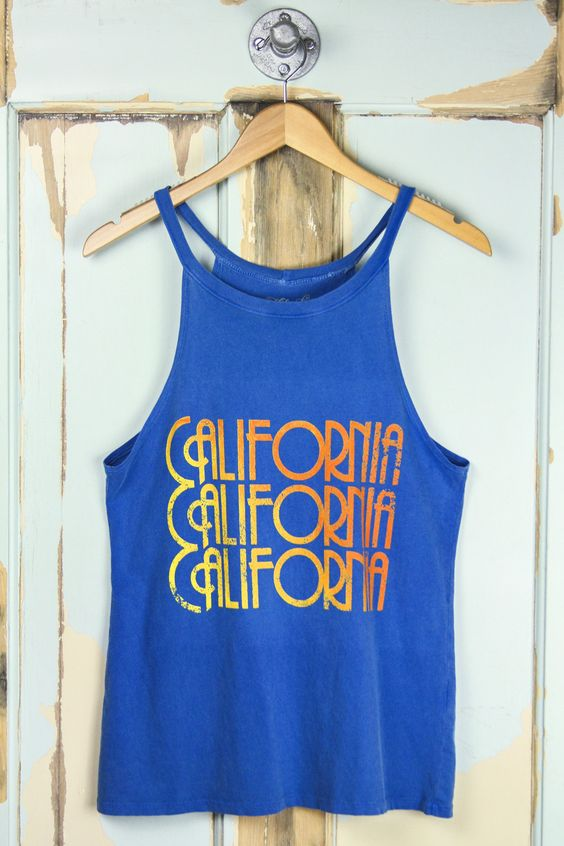 MIDNIGHT RIDER 'California' Halter Tank