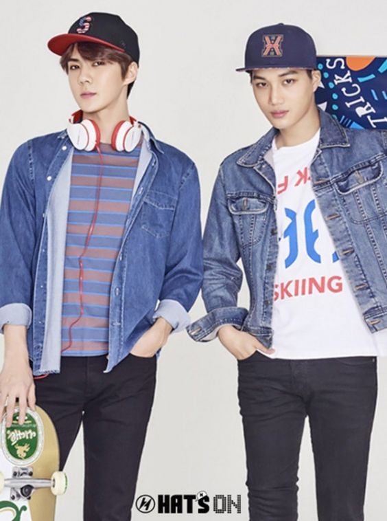 Kai and Sehun EXO for Hat's On