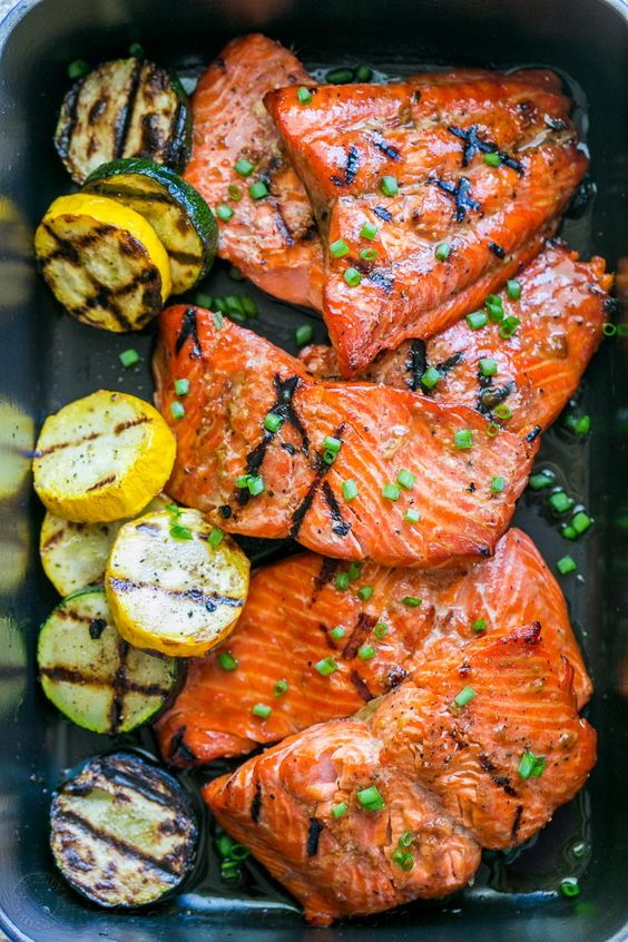 This grilled maple salmon recipe is a KEEPER! Maple salmon is flaky, juicy and…: