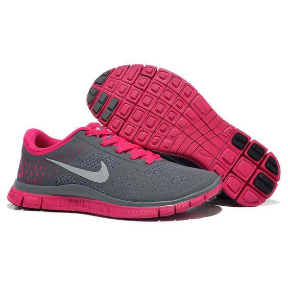 Nike Free Run Damen Grau Pink