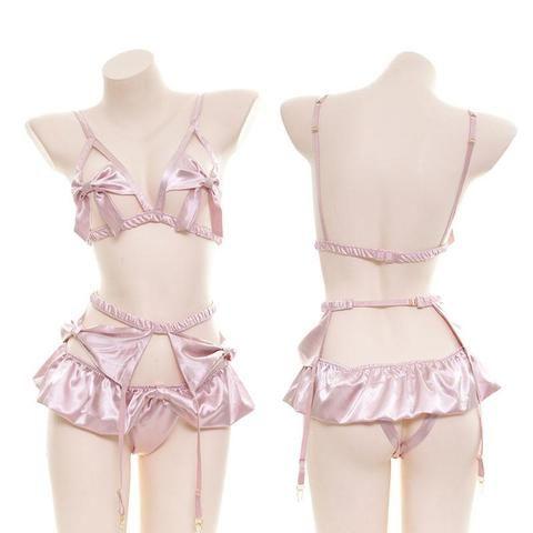 Details about  /Sweet Swimwear Nightwear Bodysuit Babydoll Cute Cat Rabbit Ears Bikini Sleepwear