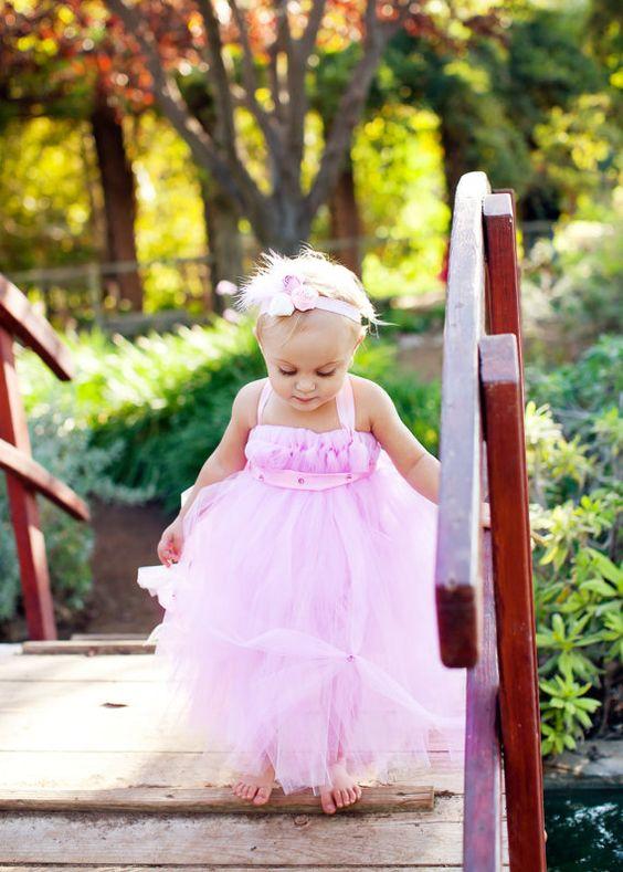 Light Pink Full Tutu Dress w/ Gems