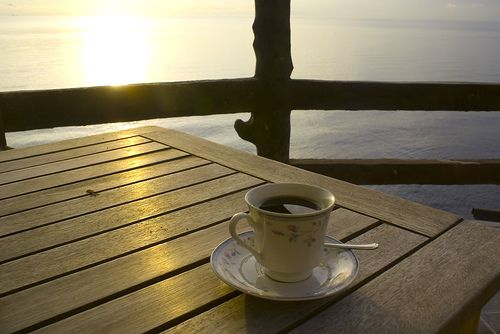 Coffee is the best thing to douse the sunrise with. ~Drew Sirtors