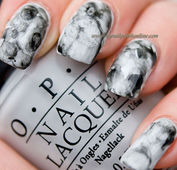 Watercoloured nails. Maybe with different colors, but this is super cool.