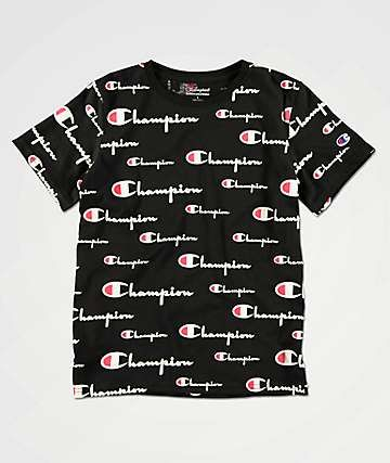 New Champion Boys' Logo Regular Fit T-Shirt