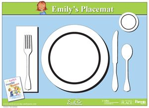 Printable placemat for learning how to set the table from Simple table setting for lunch