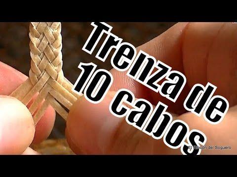 """Trenza de 10 (Tipo Pluma) """"El Rincón del Soguero"""""""