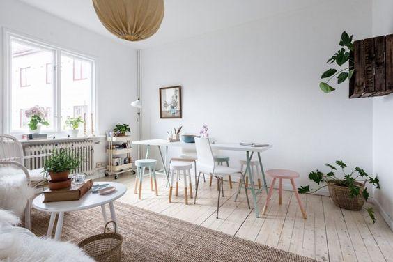 Plantas en el dormitorio estilo nórdico escandinavo decorar con ...