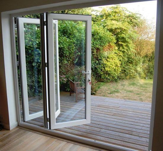 Hot Item European Design Thermal Break Aluminium Folding Door For Terrace Folding Doors Bifold Doors White Bifold Doors