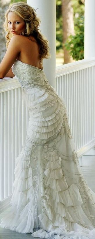 What a stunning gown!                                                                                                                                                     More