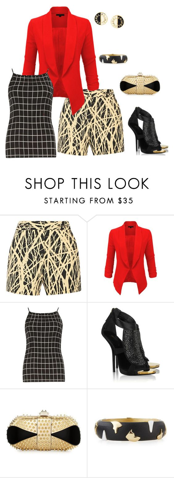 """It's A Mixup!"" by brandena ❤ liked on Polyvore featuring Proenza Schouler, LE3NO, Dorothy Perkins, Giuseppe Zanotti, Christian Louboutin, Alexis Bittar and Chanel"