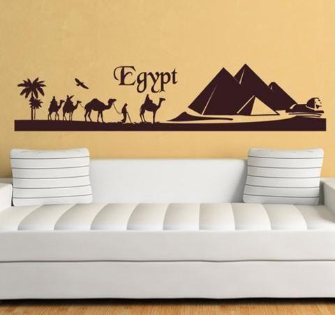 ik1008 Wall Decal Sticker egyptian gods anubis sekhmet bedroom vinyl decor art