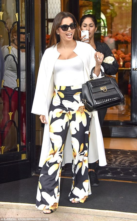 Casually does it? Eva Longoria proved that she's just as fashionable when it comes to her day-to-day look when she stepped out in Paris, on Tuesday morning