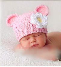 gratis verzending nieuwe stijl baby hoed handcrochet fotografie rekwisieten pasgeboren hoed(China (Mainland))