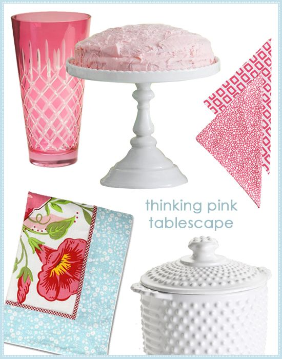 {Tabletop how-to!} Thinking pink tablescape, tablecloths, plates and bowls. #laylagrayce #entertaining #china #newsletter