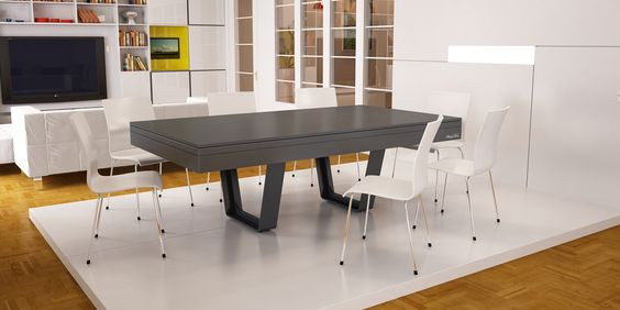 New exclusive design by Bréton...pool table turning into dining table