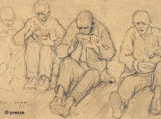 Depiction of inmates at a WWII concentration camp | Germany | DW.DE | 19.08.2009