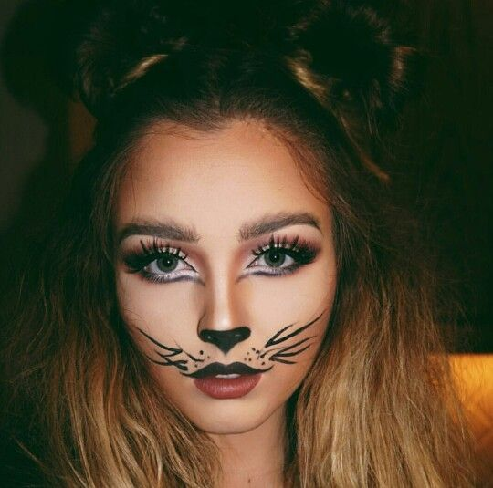 Lion Halloween makeup. #halloween #halloweenmakeup #fashion #style  #nicestyles #womensfashion #girl… | Halloween makeup, Cute halloween  makeup, Cat halloween makeup