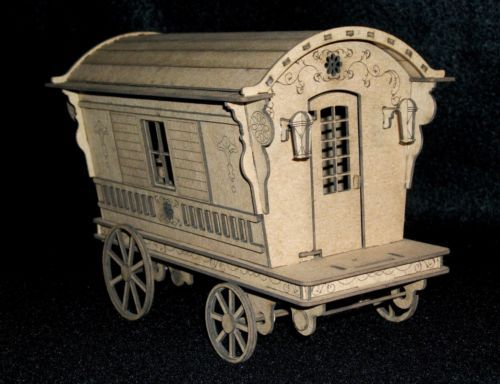Gypsy-Caravan-kit-miniature-gypsy-wagon from tinywhitelily on e-bay. Kit cost $25.00 plus $6.00 shipping. From Hallstead, PA.