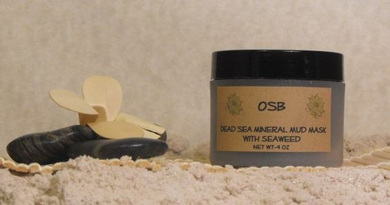 Dead Sea Mineral Mud Mask with Seaweed by OffshoreBreeze on Etsy, $12.00