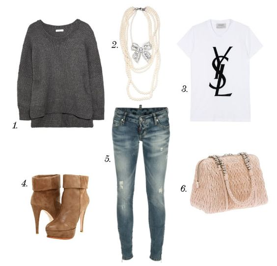 Really cute( high school outfit definitely ( | Outfits | Pinterest | High schools High school ...