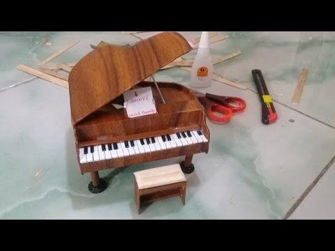 Membuat Miniatur Piano Dari Stik Es Krim Youtube With Images
