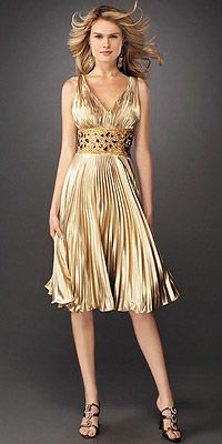 macy&-39-s cocktail dresses - This shimmering gold cocktail dress from ...