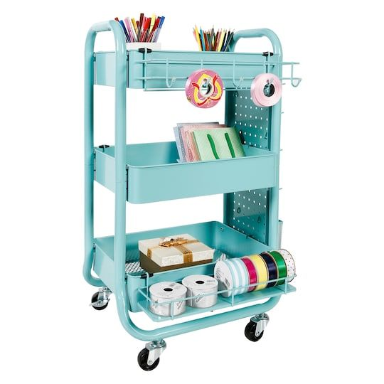 Gramercy Rolling Cart By Recollections Craft Room Organization Room Organization Craft Storage