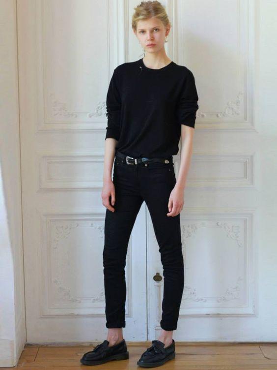 black outfit. Pretty Ola Rudnicka. Blak pants, sjoes and sweather. source: https://www.facebook.com/WonderfulOlaRudnicka/photos/ms.c.eJyztLQ0NbAwMTAwMLM0NDXXs4TyjU0MjEwsDeB8M3NjUwsjYwDoLAml.bps.a.999508183402512.1073741973.720168454669821/999508400069157/?type=1&theater