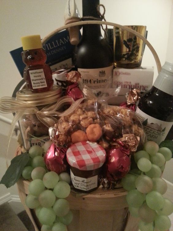North Carolina Basket. Filled with items made in North Carolina. Some items may vary due to season