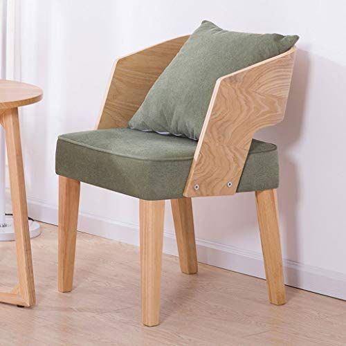 HY Nordic Simple Single Chair Solid Wood Back Office Chair Coffee