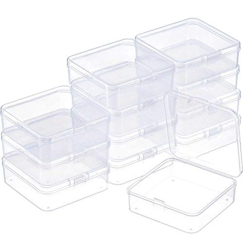 Satinior 12 Pack Clear Plastic Beads Storage Containers B Https Www Amazon Com Dp Clear Plastic Storage Containers Bead Storage Plastic Container Storage