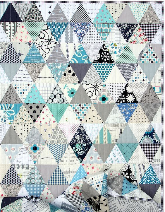 Triangles and More Triangles ~ A Finished Quilt