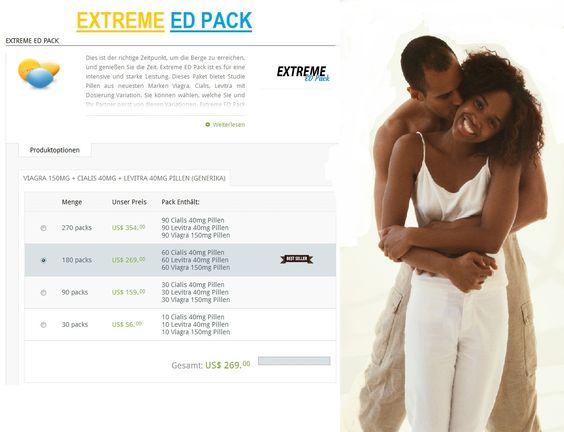 Extreme ED Pack ist die hervorragende Angebot für erwachsenen Männern Erektionsstörungen , verschiedene Marken von Medizin Kamagra , Viagra, Cialis, Levitra versuchen, niedrigen Kosten.  #Kaufen Extreme ED Pack #Deutschland - http://www.de-edapotheke.com/extreme-ed-pack.html