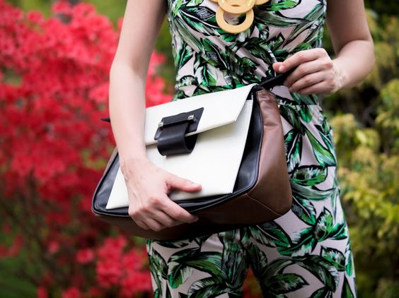 bittersweet colours, DIY necklace, Joanna Maxham bags, JUMPSUIT, palm prints, prints, summer, tropical prints, zara sandals, garden party, s...