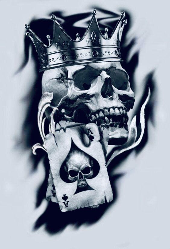 Pin By Wendy Gaytan On Art Skull Tattoo Design Tattoo Design Drawings King Tattoos