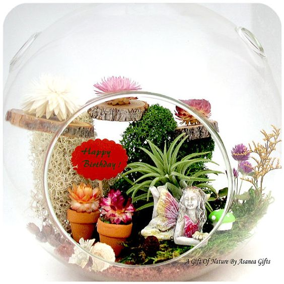 A Fairy Birthday My Fairy Garden Terrariums™  by AGiftofNature