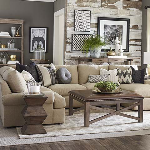 Sutton Ushaped Sectional  Shapes Living Rooms And Room Endearing Living Room With Sectional Inspiration Design