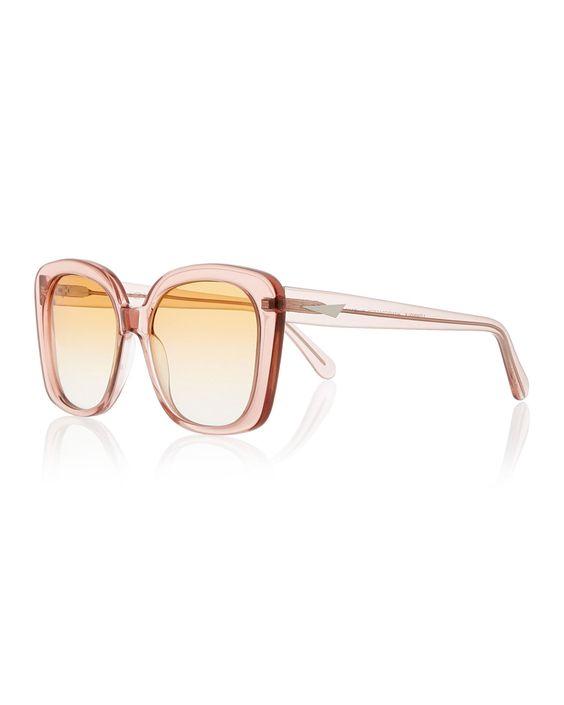 Monaco Transparent Square Sunglasses, Rouge - Prism