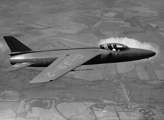 Folland Gnat prototype; first flight 18th July 1955.