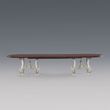 Jansen Furniture - Products - LOUIS XV DINING TABLE TWO PEDESTAL