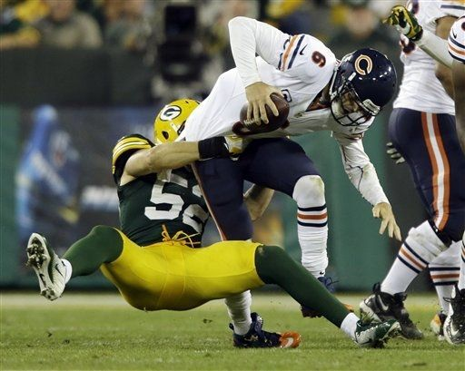 Week 2-Clay Matthews taking down Cutler!