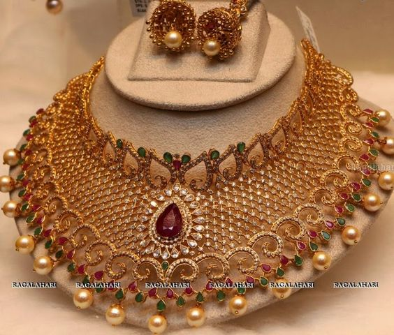 Latest Indian Jewellery Designs 2015: Indian Jewellery Designs: Latest Uncut Diamond Sets 2015