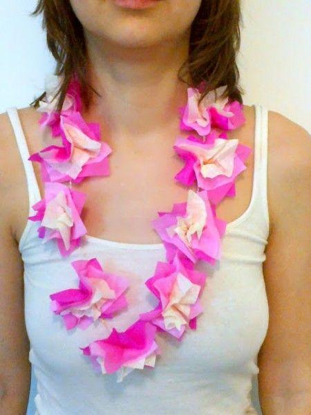 Como hacer collares hawaianos